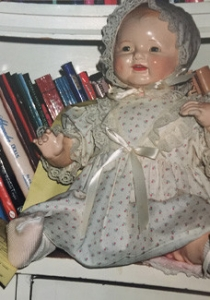antique doll repaired